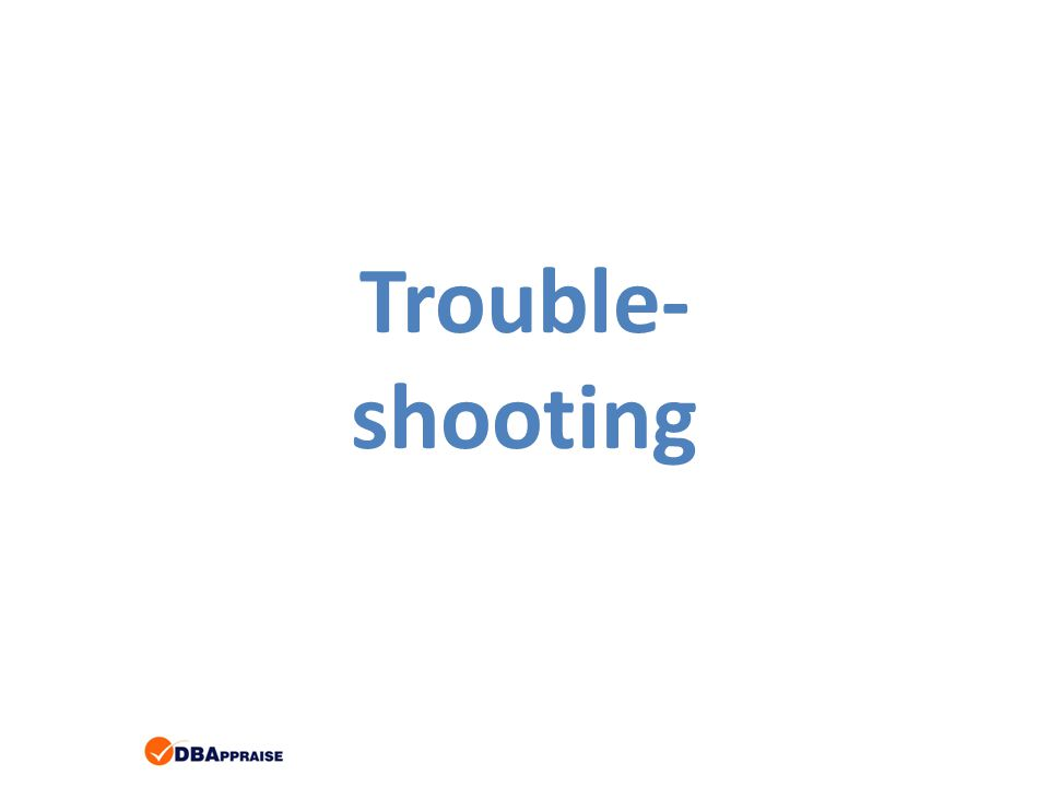 Trouble- shooting