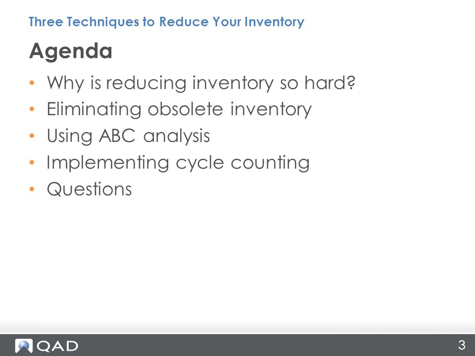 3 Why is reducing inventory so hard.