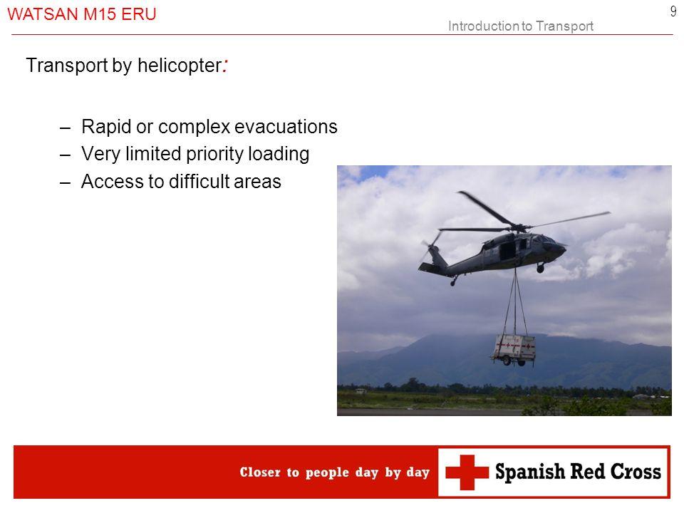 Introduction to Transport WATSAN M15 ERU 10 Thank you……….