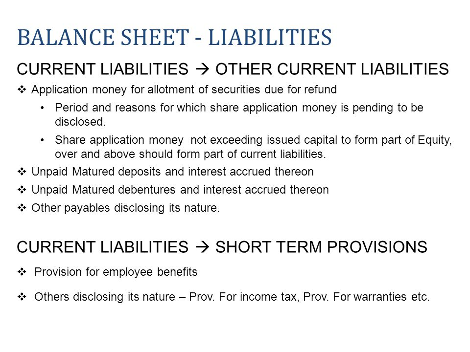 CURRENT LIABILITIES OTHER CURRENT LIABILITIES Application money for allotment of securities due for refund Period and reasons for which share applicat