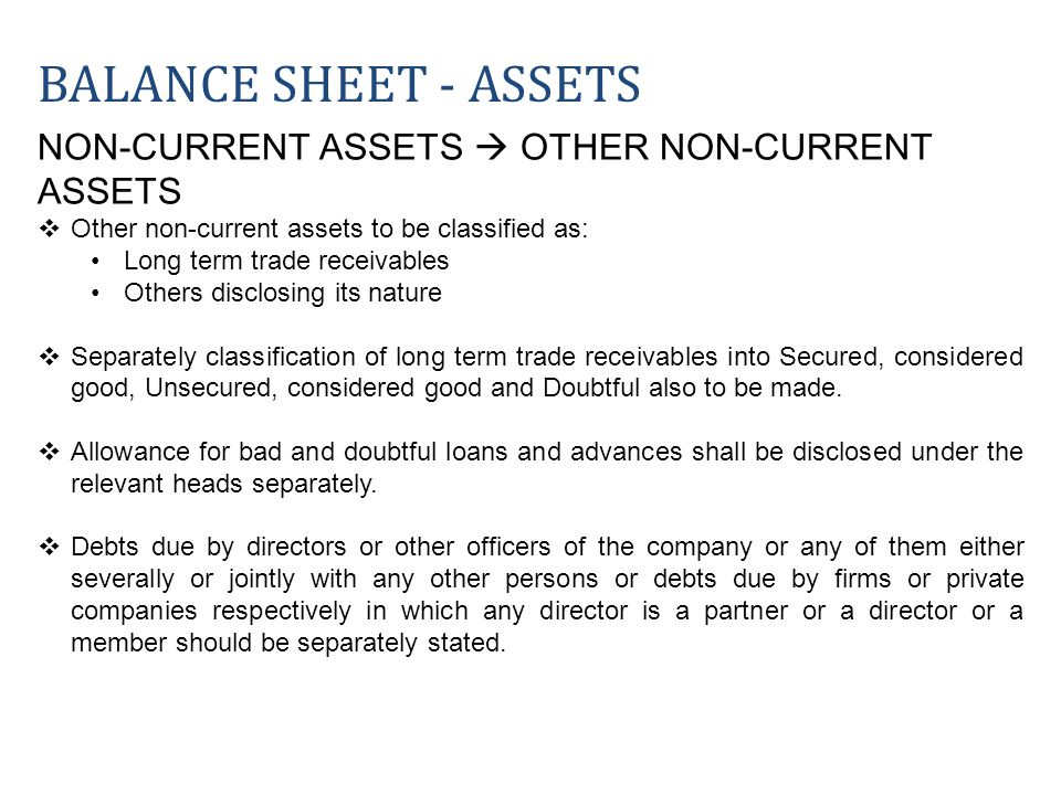 NON-CURRENT ASSETS OTHER NON-CURRENT ASSETS Other non-current assets to be classified as: Long term trade receivables Others disclosing its nature Sep