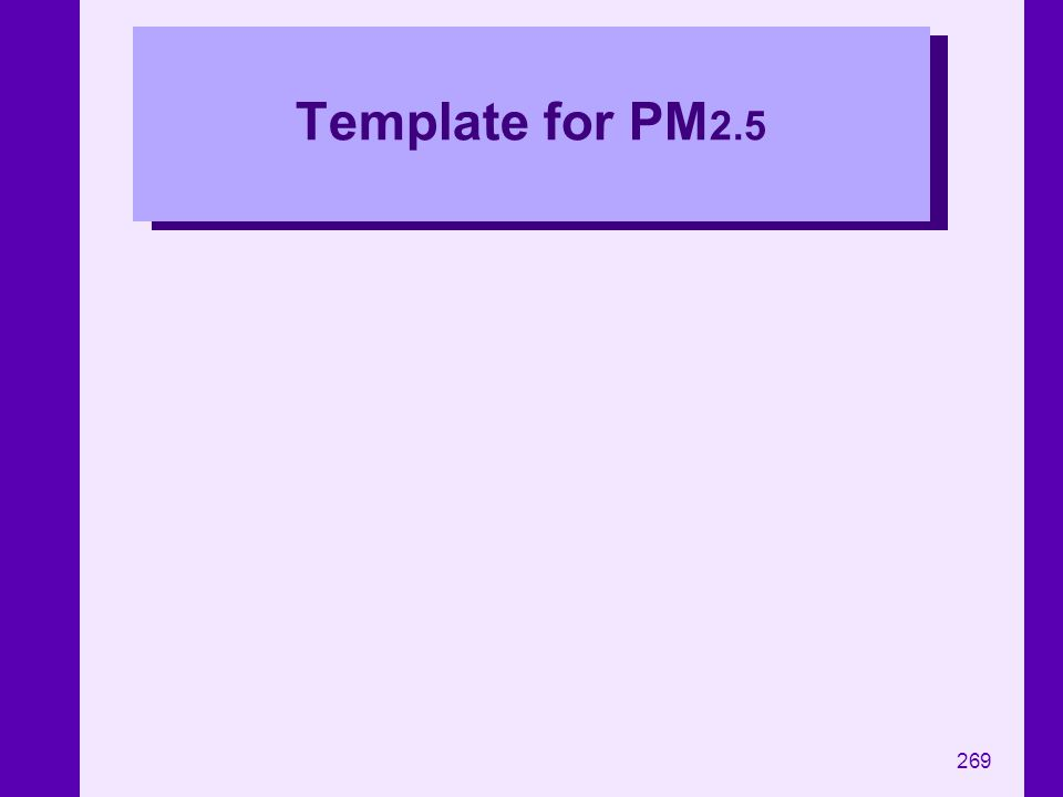 269 Template for PM 2.5