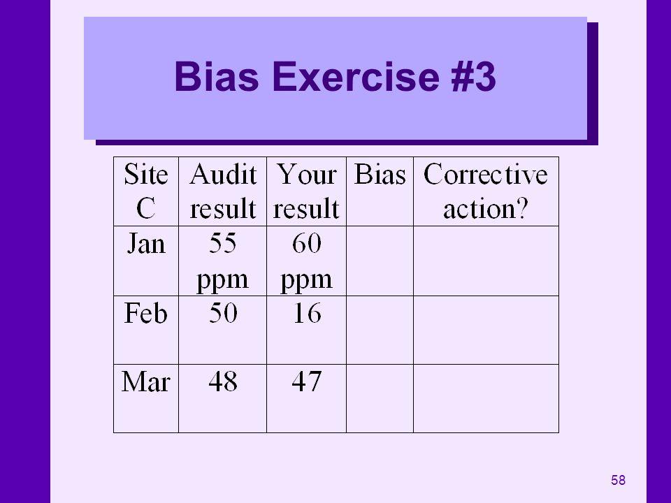 58 Bias Exercise #3