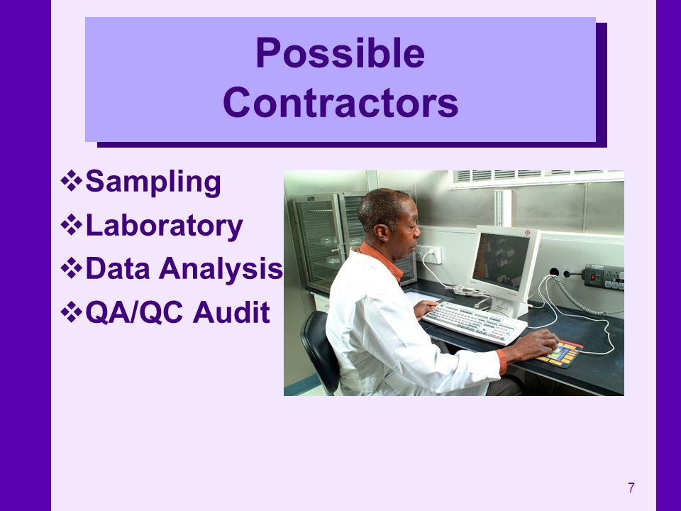 7 Possible Contractors Sampling Laboratory Data Analysis QA/QC Audit