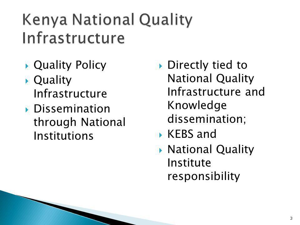 Preamble KEBS Organization KENAS (Accreditation) Separated from KEBS in 2009 1.