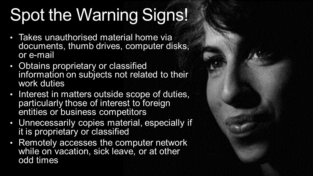 Spot the Warning Signs.