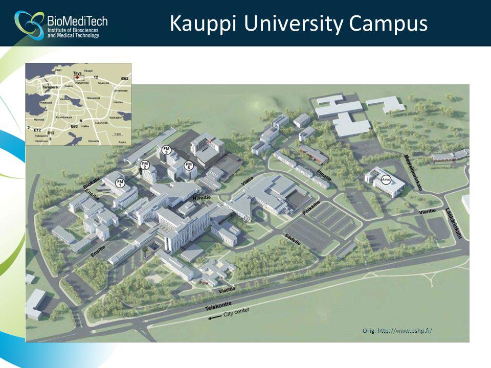 Kauppi University Campus Orig. http://www.pshp.fi/