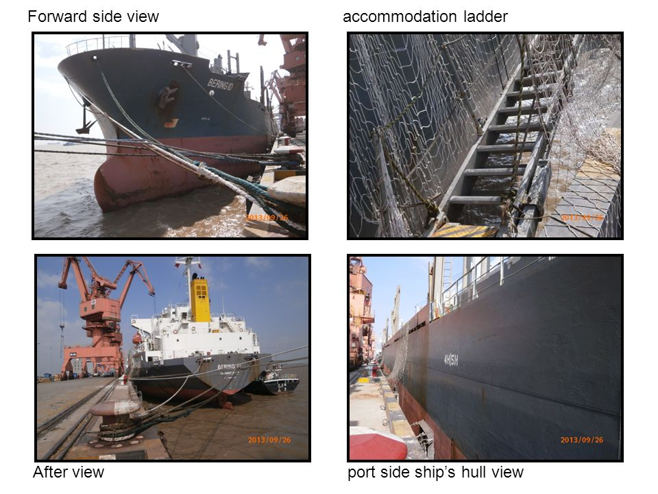 Forward side view accommodation ladder After view port side ships hull view