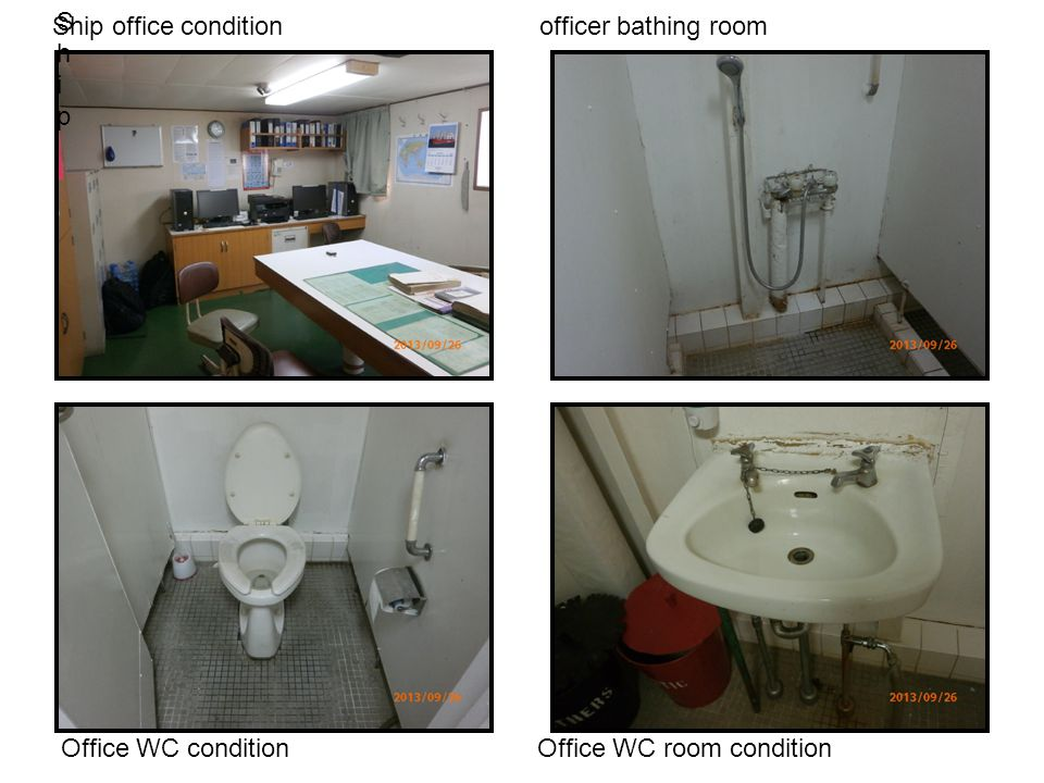 Ship Ship Ship office condition officer bathing room Office WC condition Office WC room condition