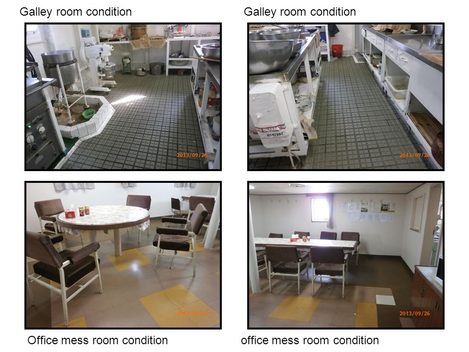 Galley room condition Office mess room condition office mess room condition