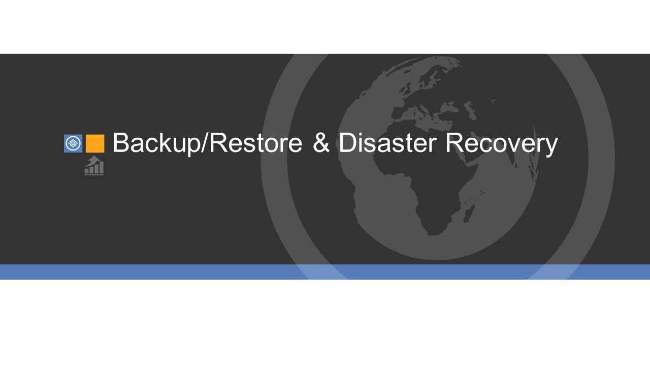 Backup/Restore & Disaster Recovery