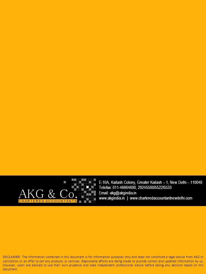 E-10A, Kailash Colony, Greater Kailash – 1, New Delhi – 110048 Telefax: 011-46664600, 29245500/5522/5533 Email: akg@akgindia.in www.akgindia.in   www.