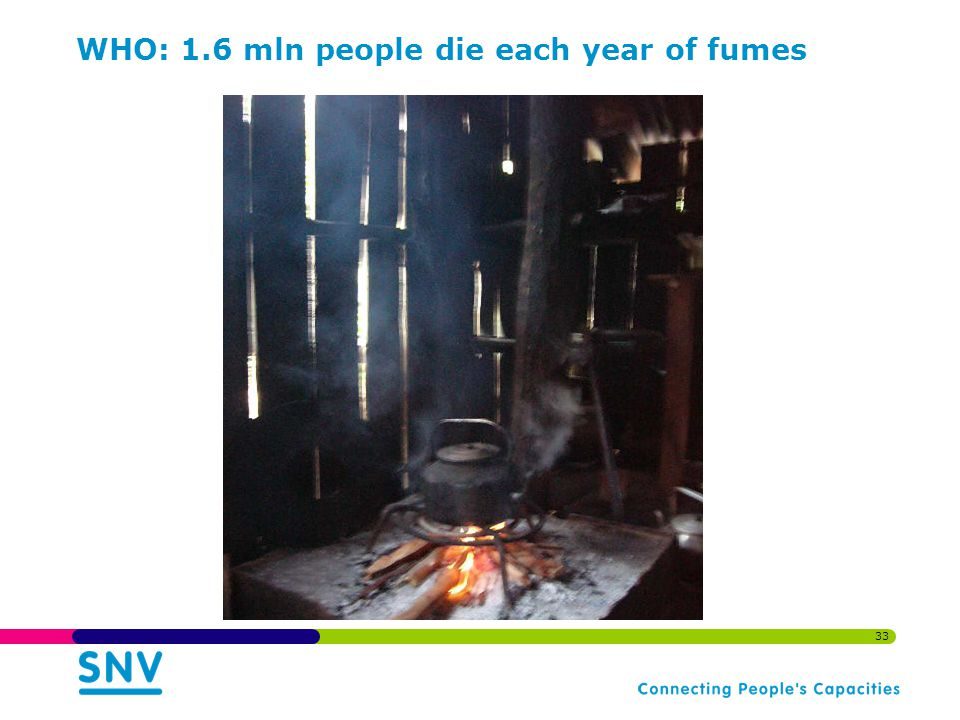 33 WHO: 1.6 mln people die each year of fumes