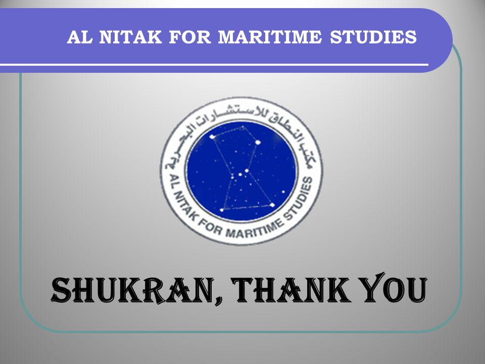 AL NITAK FOR MARITIME STUDIES SHUKRAN, THANK YOU