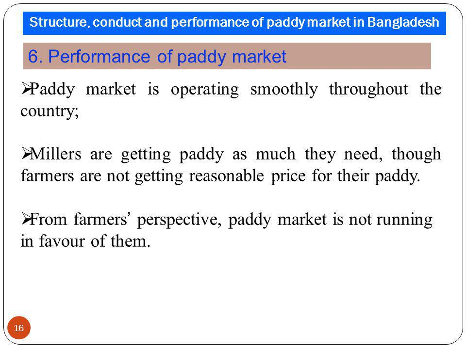 Paddy market is operating smoothly throughout the country; Millers are getting paddy as much they need, though farmers are not getting reasonable pric