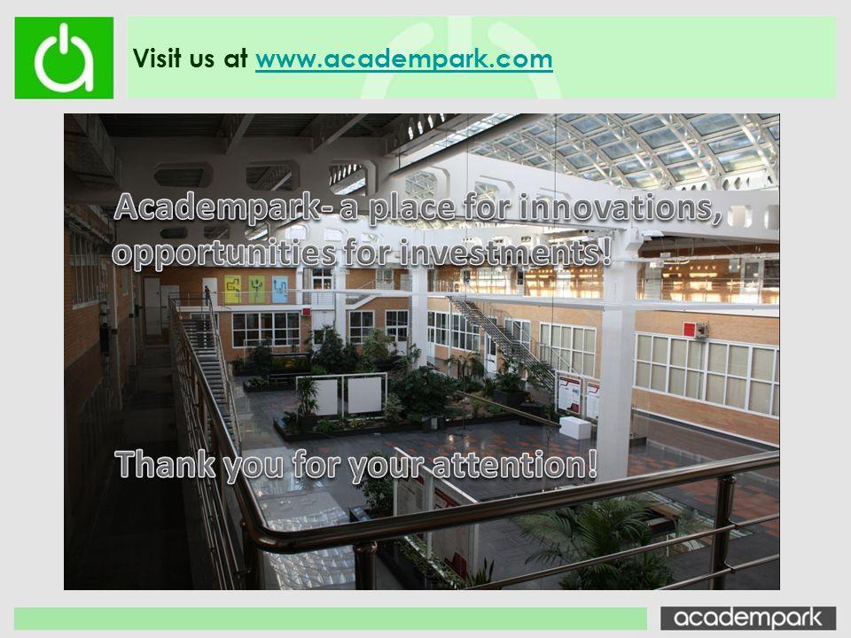 Visit us at www.academpark.comwww.academpark.com