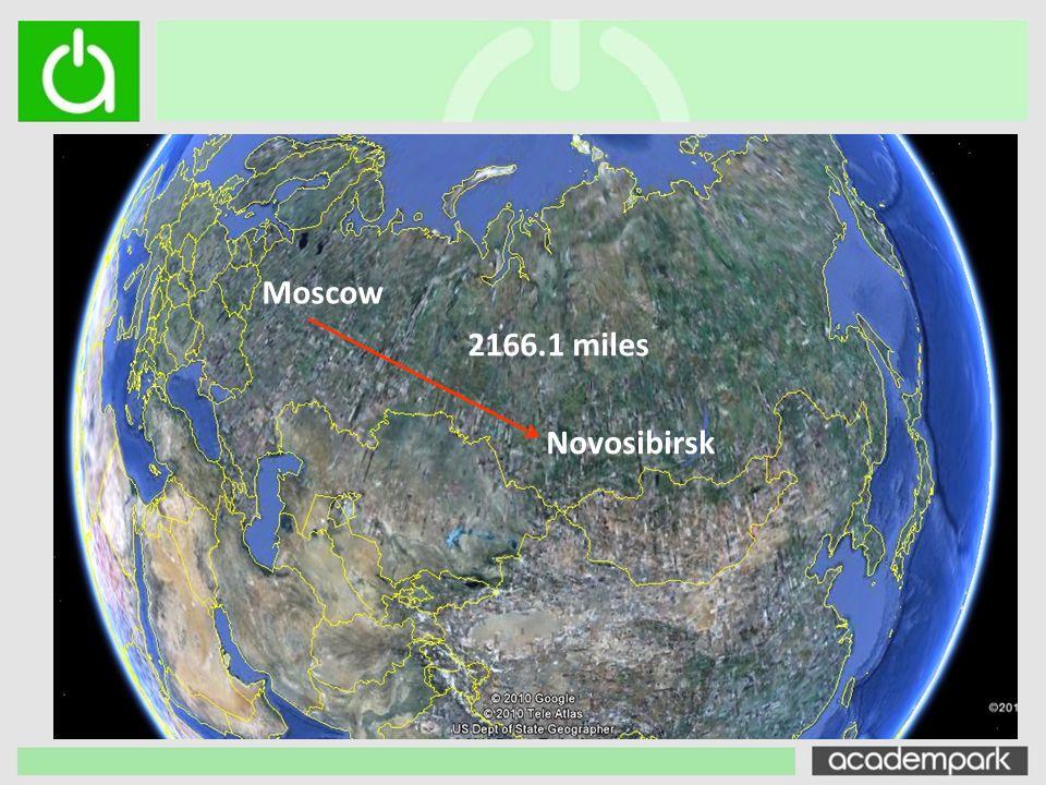 Novosibirsk Moscow 2166.1 miles