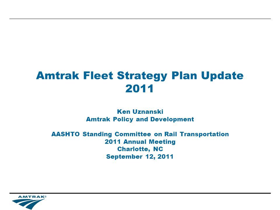 22 Fleet Strategy Plan Update Equipment Requirements Years 1 to 15 –904 single level cars –420 bi-level cars –70 electric locomotives –280 diesel locomotives –40 high speed trainsets and 40 additional cars for the existing trainsets –Total acquisition cost (FY11 values) $12.3bn Years 16-30 –592 single level cars –511 bi-level cars –70 electric locomotives –300 diesel locomotives –40 high speed trainsets –Total acquisition cost (FY11) values $12.7bn