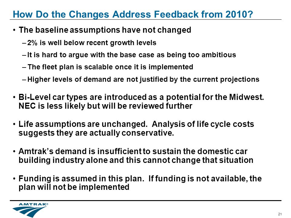 21 How Do the Changes Address Feedback from 2010.