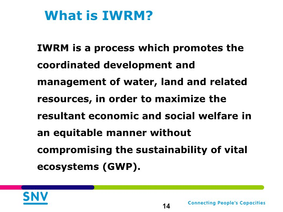 What is IWRM.
