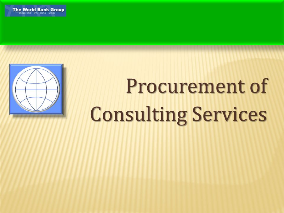 Procurement of Consulting Services