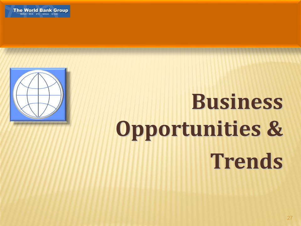 Business Opportunities & Trends 27