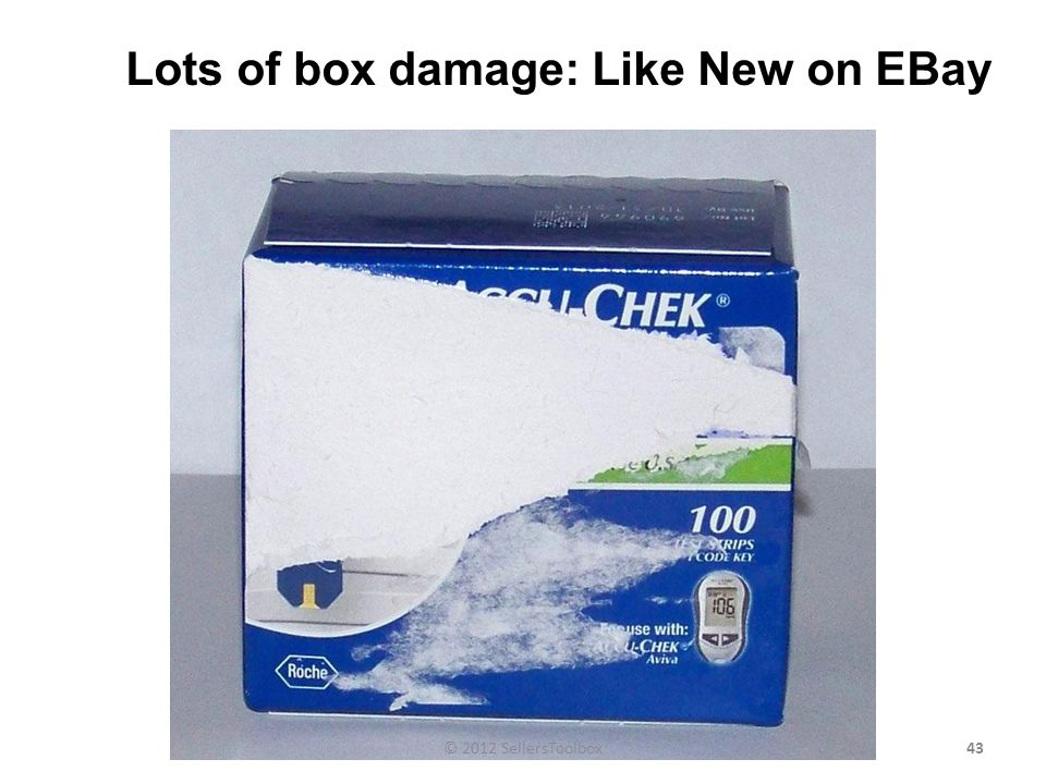 Lots of box damage: Like New on EBay 43© 2012 SellersToolbox