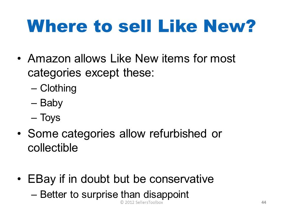 Where to sell Like New.