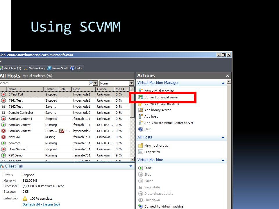 Using SCVMM