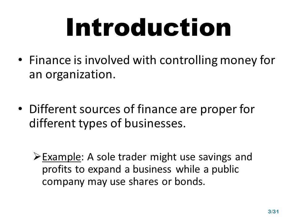 Business finance can be broken into two forms Capital expenditure is money spent on fixed assets (i.e.