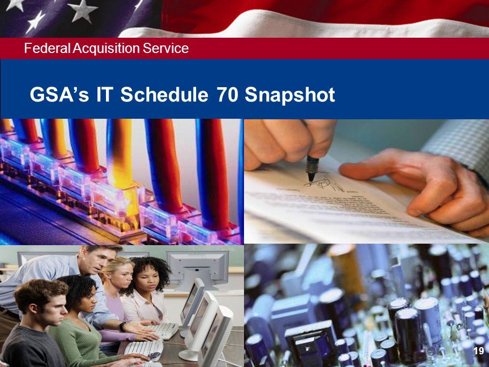 Federal Acquisition Service GSAs IT Schedule 70 Snapshot 19