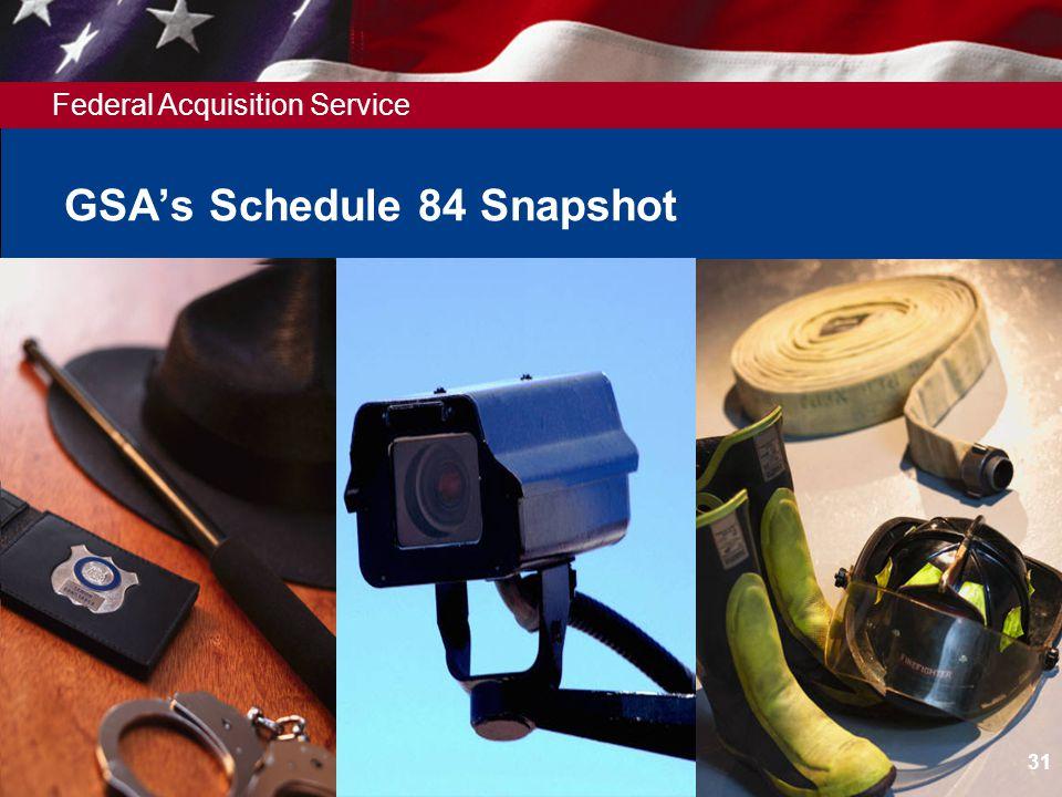 Federal Acquisition Service GSAs Schedule 84 Snapshot 31