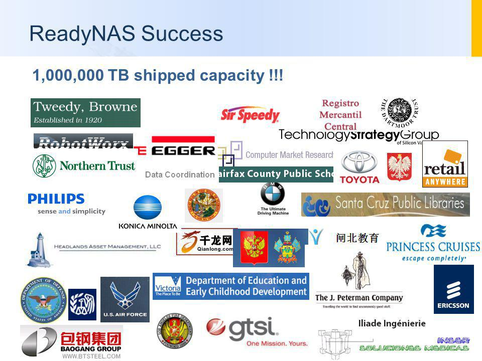 ReadyNAS Success 1,000,000 TB shipped capacity !!!