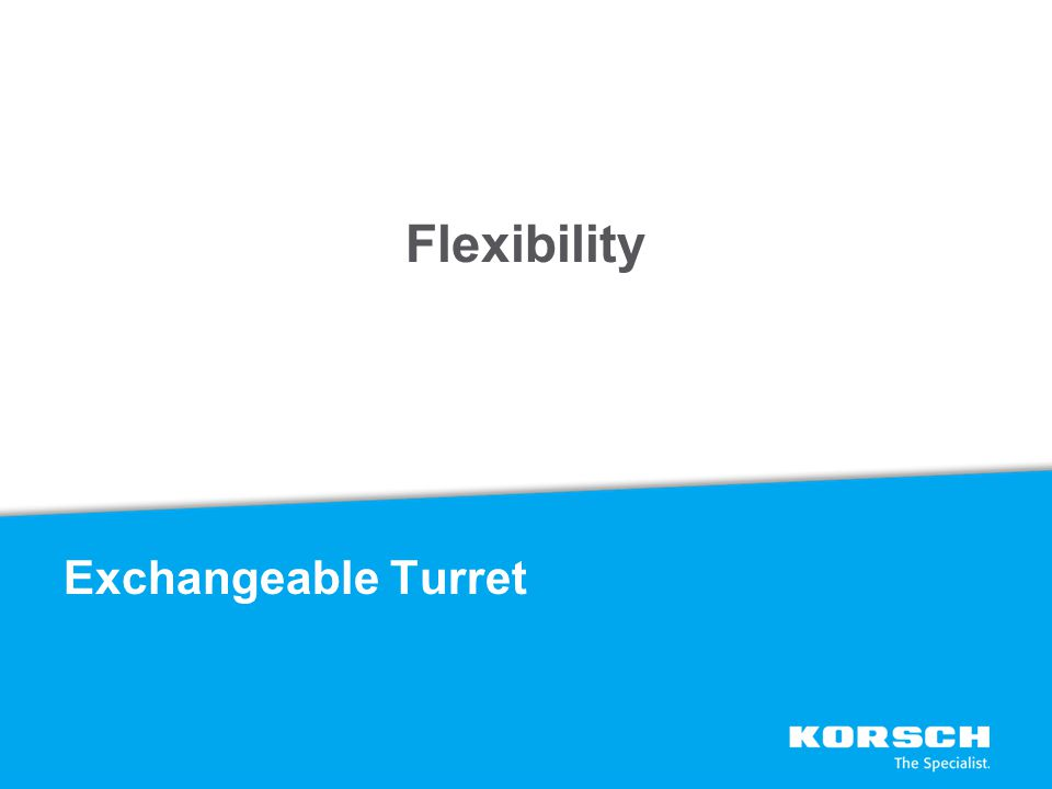 Flexibility Exchangeable Turret