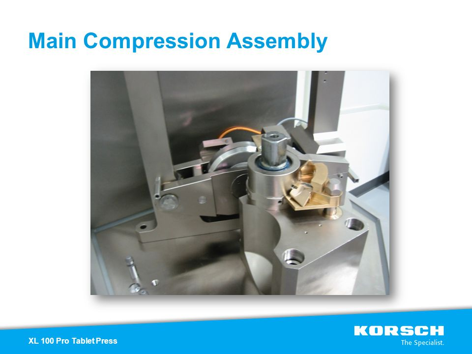 Main Compression Assembly XL 100 Pro Tablet Press