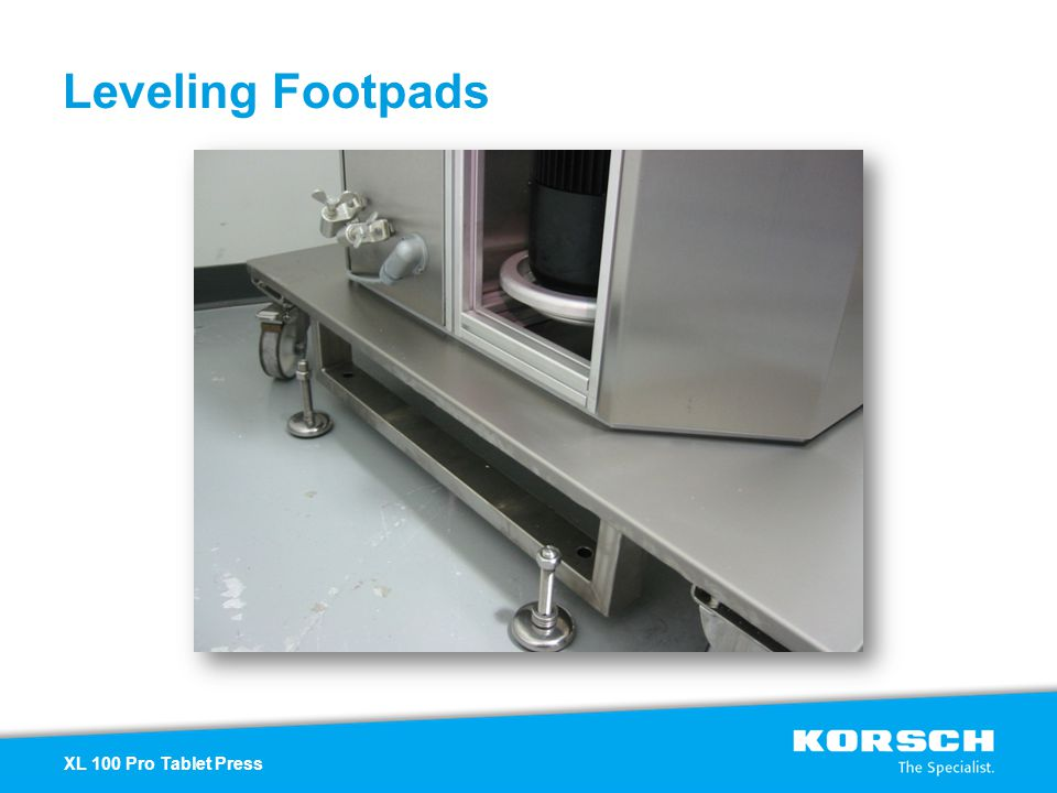 Leveling Footpads XL 100 Pro Tablet Press