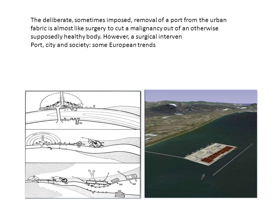 The deliberate, sometimes imposed, removal of a port from the urban fabric is almost like surgery to cut a malignancy out of an otherwise supposedly h