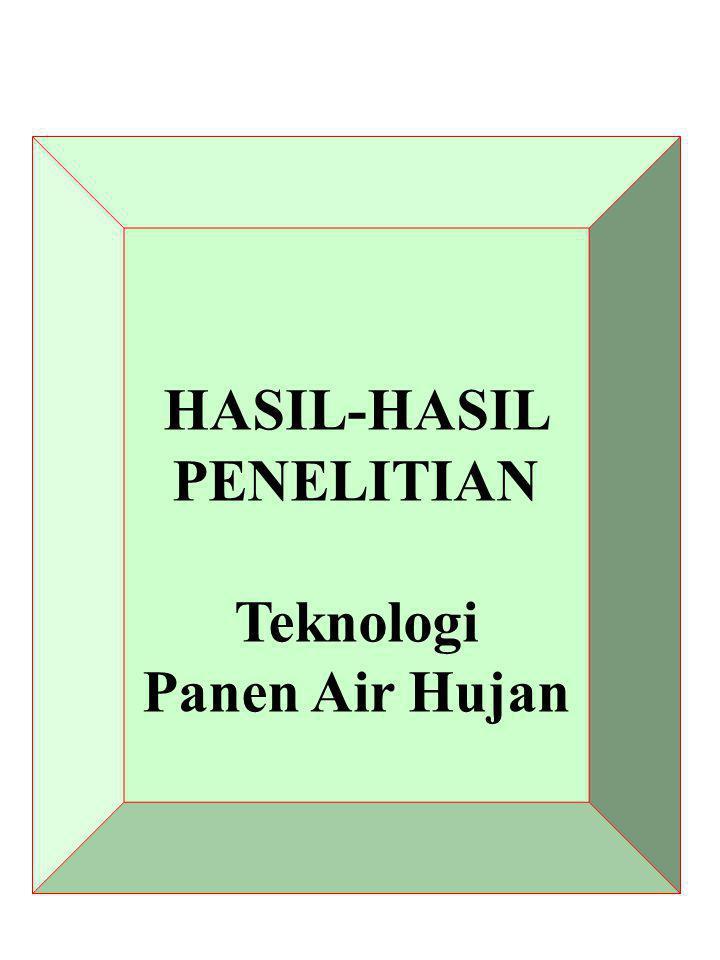 HASIL-HASIL PENELITIAN Teknologi Panen Air Hujan
