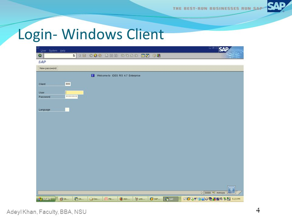 Adeyl Khan, Faculty, BBA, NSU Login- Windows Client 4