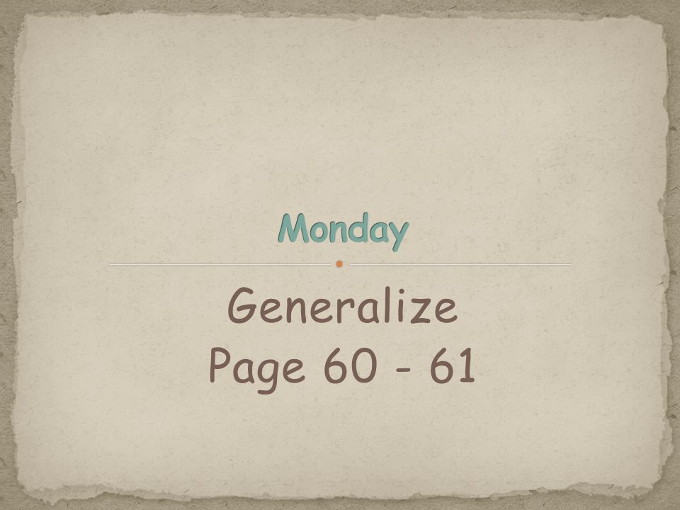 Generalize Page 60 - 61