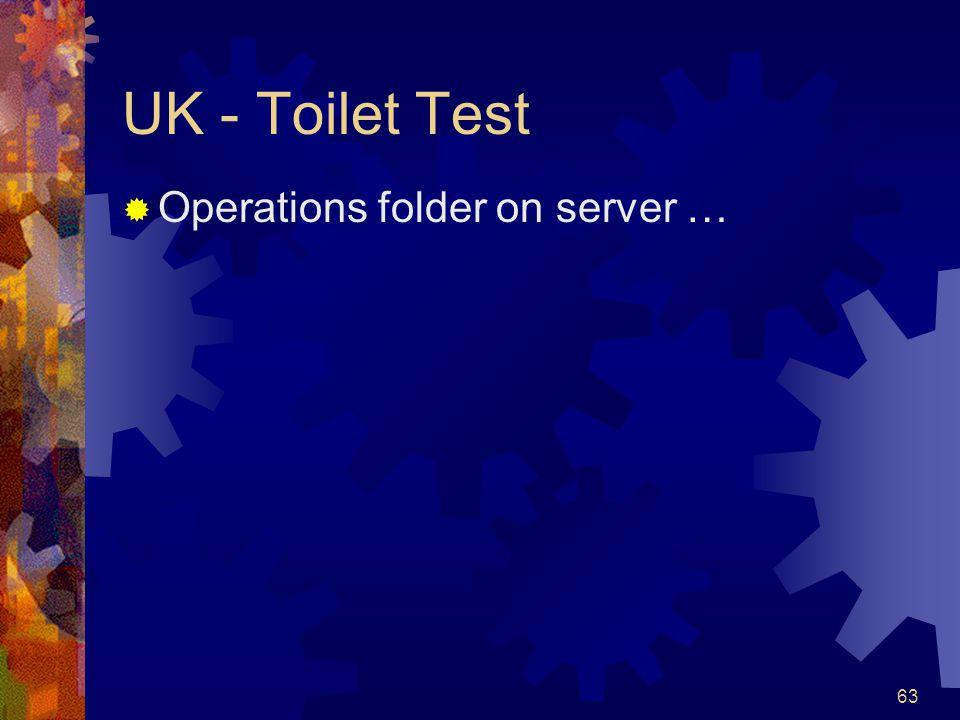63 UK - Toilet Test Operations folder on server …