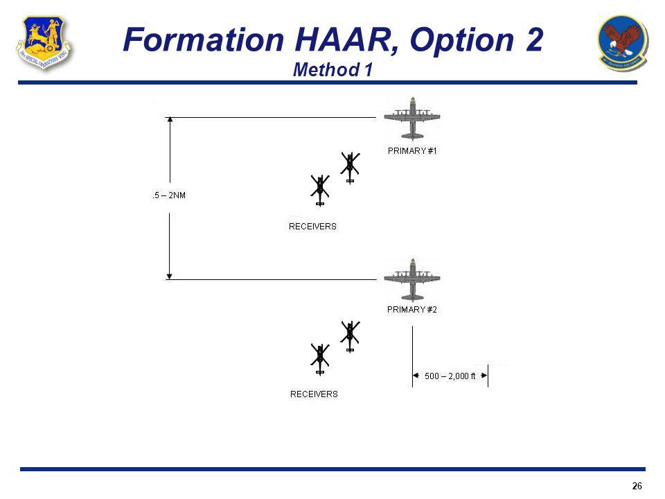 Formation HAAR, Option 2 Method 1 26