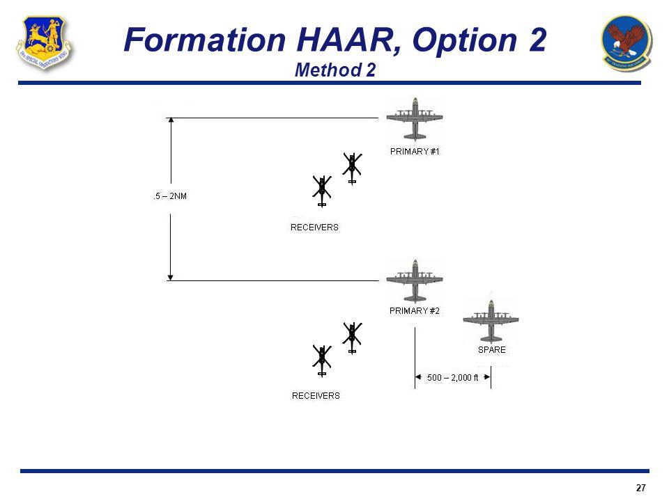 Formation HAAR, Option 2 Method 2 27