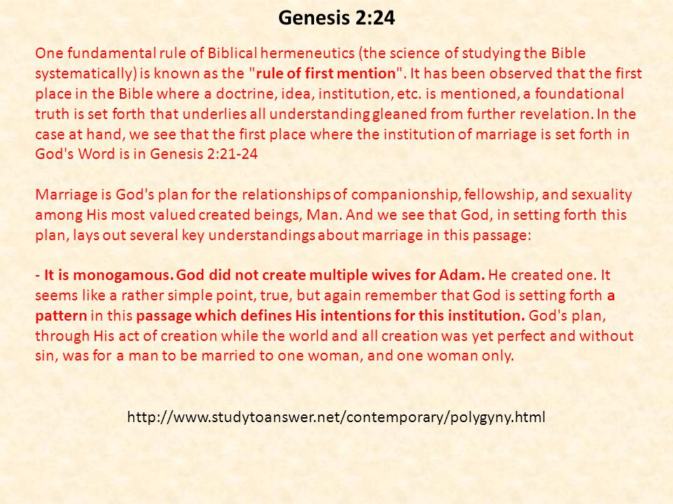 One fundamental rule of Biblical hermeneutics (the science of studying the Bible systematically) is known as the