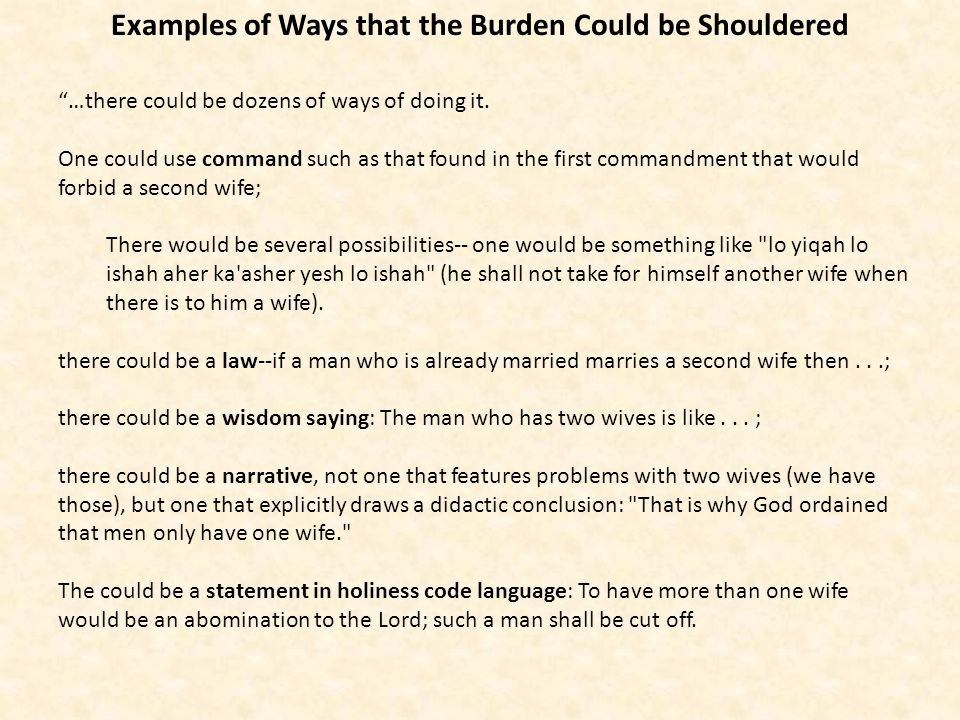 It doesnt make good sense if you translated it as Davidson suggests: And you shall not take a woman and her sister as a rival… The preceding verse doesnt have the same construction.