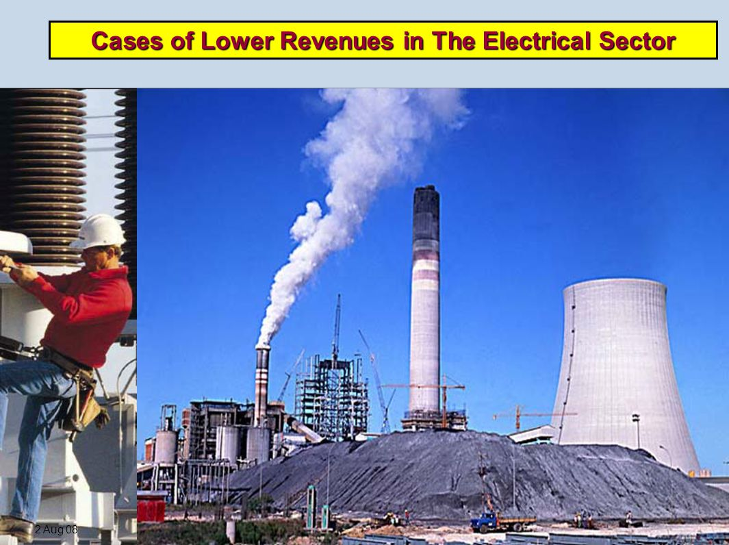 2 Aug 08RJovel7 Cases of Lower Revenues in The Electrical Sector