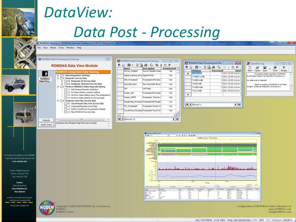 DataView: Data Post - Processing