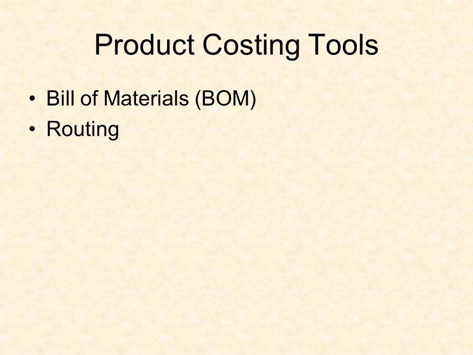 Product Costing Tools Bill of Materials (BOM) Routing