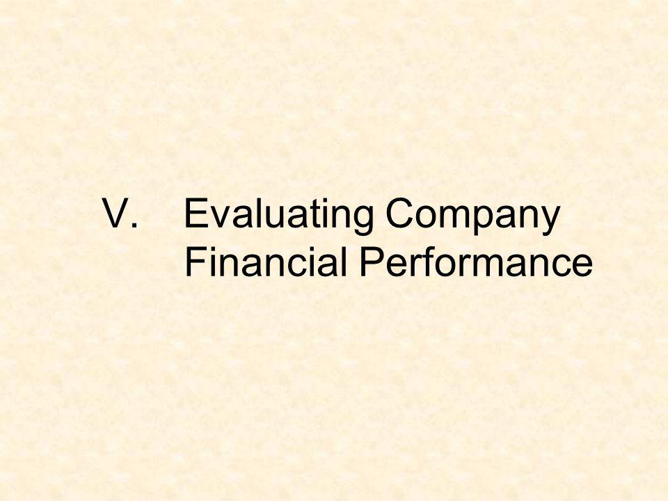 V.Evaluating Company Financial Performance