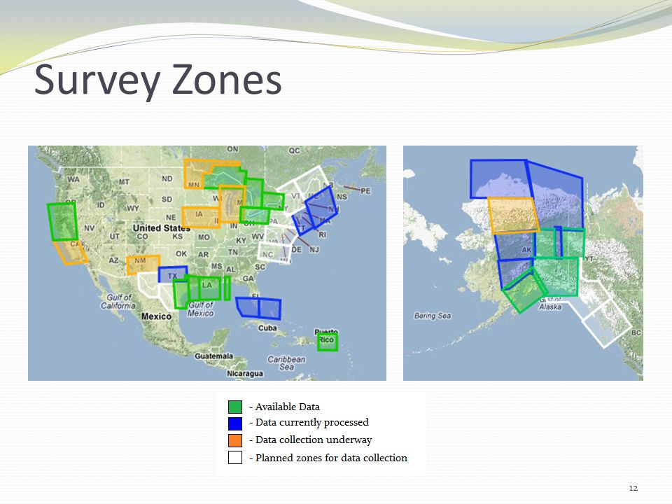 Survey Zones 12